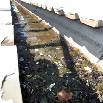 Commercial Guttering Repair Before