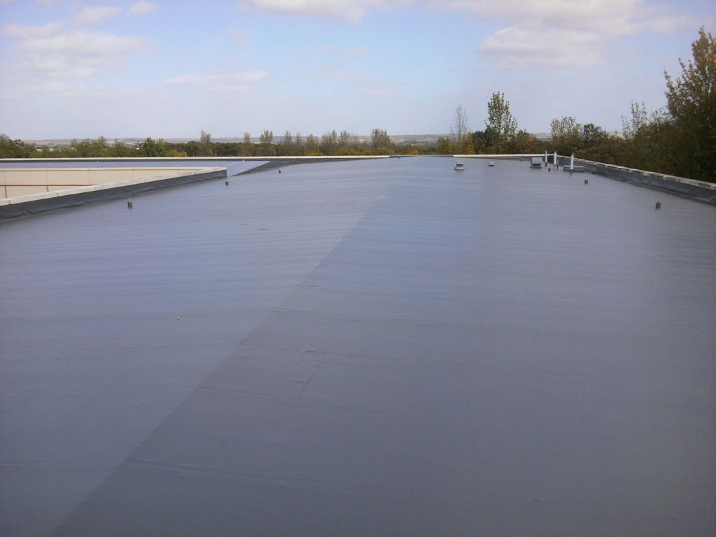 Single Ply Flat Roof